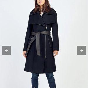 NWT Mackage Nori KR Black Wool Winter Coat XS